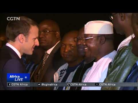 French President Macron Arrives In Burkina Faso For Regional Visit