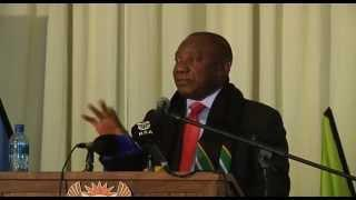 Deputy President Cyril Ramaphosa Addresses South Africa's Skills International Team