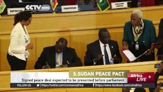 South Sudan Peace Deal Acknowledged By The Parliament