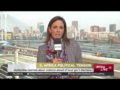 Authorities In South Africa Worried About Violence Ahead Of Local Gov't Elections