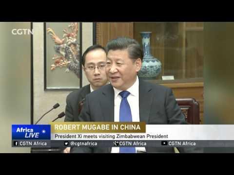 President Xi Meets Visiting Zimbabwean President