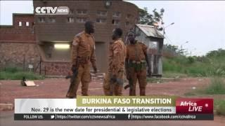 November 29, New Date For Presidential & Legislative Elections In Burkina Faso