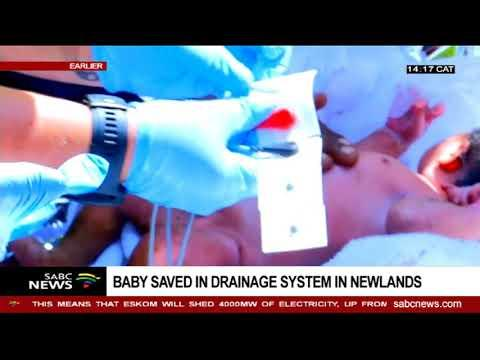 An Infant Rescued From A Storm Water Drain In KZN