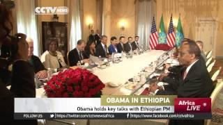 Obama Holds Key Talks With Ethiopian PM