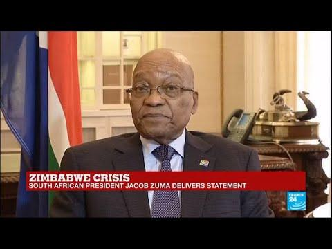 South Africa's President Jacob Zuma Delivers Statement On Zimbabwe Crisis