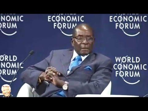 Robert Mugabe speaking at the World Economic Forum