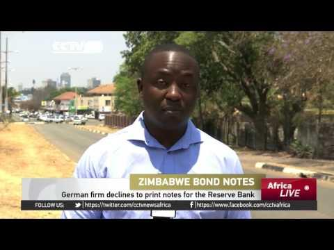 German Firm Declines To Print Notes For Zimbabwe Reserve Bank