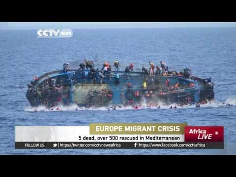 Ship Ferrying Migrants Capsizes In Mediterranean Killing 5, Over 500 Rescued
