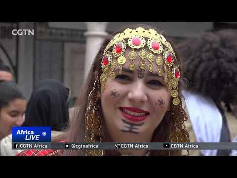 Tunisia Citizens Celebrate Traditional Clothing