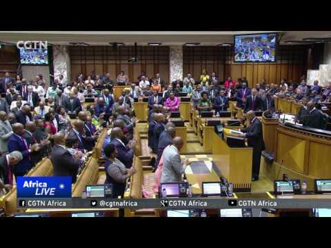 Chaos Erupts As President Zuma Delivers Parliamentary Address