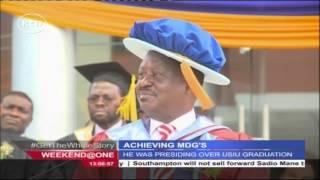 CORD Leader Raila Odinga Encourages Africans To Develop Africa At The 37th USIU Graduation