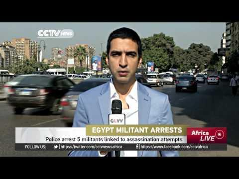 Egypt Police Arrest 5 Militants Linked To Assassination Attempts