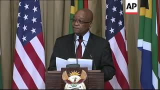 Obama And Zuma Hold A Joint News Conference