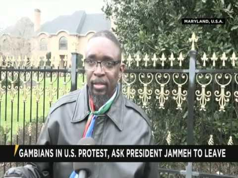 Gambians In U.S Protest,  Ask President Jammeh To Leave
