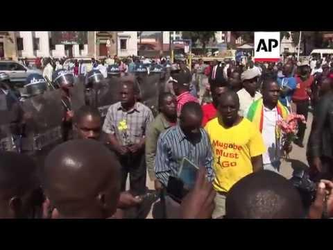 Zimbabwe - Police Break Up Anti-government Protest
