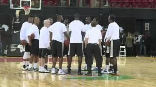Players Warm Up Ahead Of Africa's First NBA Game