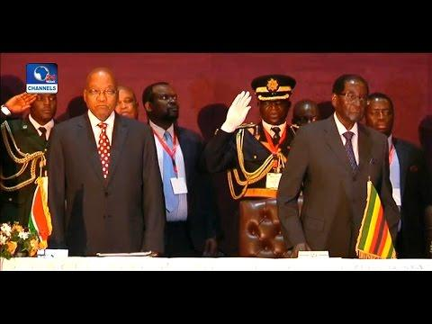 Robert Mugabe Hosts Jacob Zuma In Zimbabwe