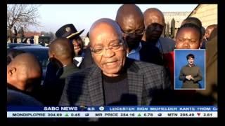 Zuma Visits Slain Metro Cop Simon Mabatamela's Home