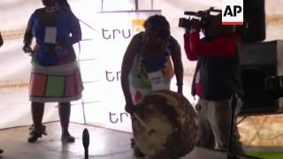People Gather At Mandela Museum To Commemorate First Anniversary Of His Passing